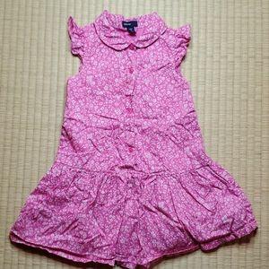 GAP Sleeveless Floral Shirt Dress w/ Peter Pan Col